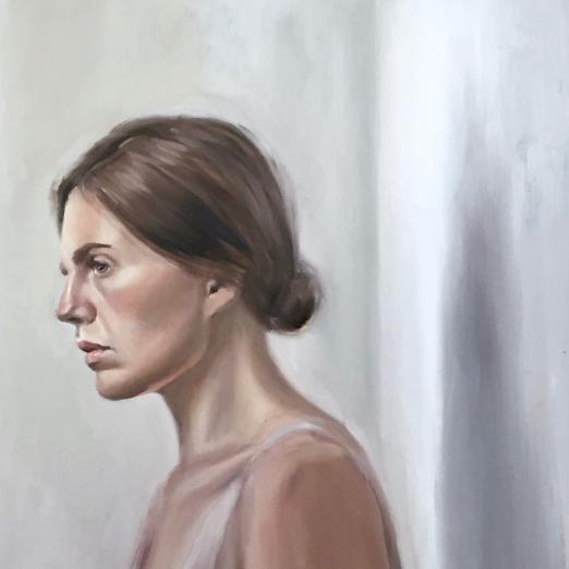 Self portrait. Oil on canvas.