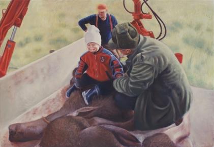 Sitta lll. Oil on canvas, 90 x 130 cm.