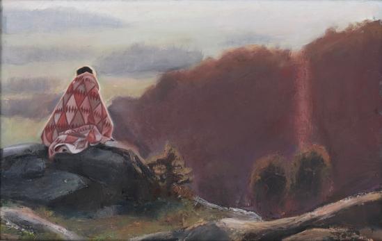 Pilgrimen, Börsåsberget. Olja på duk, 35 x 55 cm.